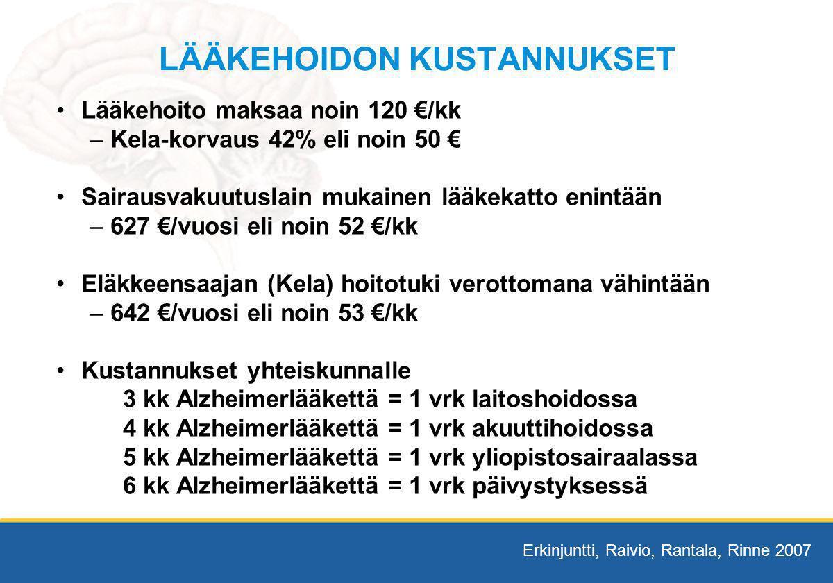 LÄÄKEHOIDON KUSTANNUKSET
