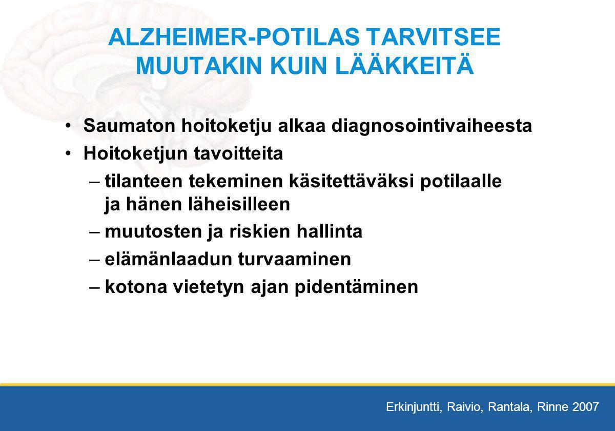 ALZHEIMER-POTILAS TARVITSEE MUUTAKIN KUIN LÄÄKKEITÄ