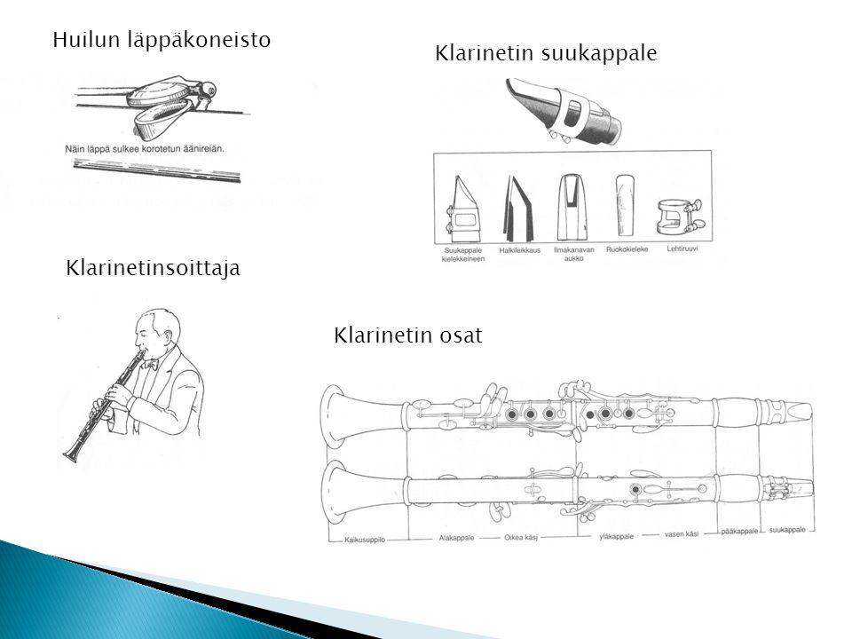 Huilun läppäkoneisto Klarinetin suukappale Klarinetinsoittaja Klarinetin osat