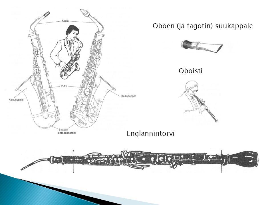 Oboen (ja fagotin) suukappale