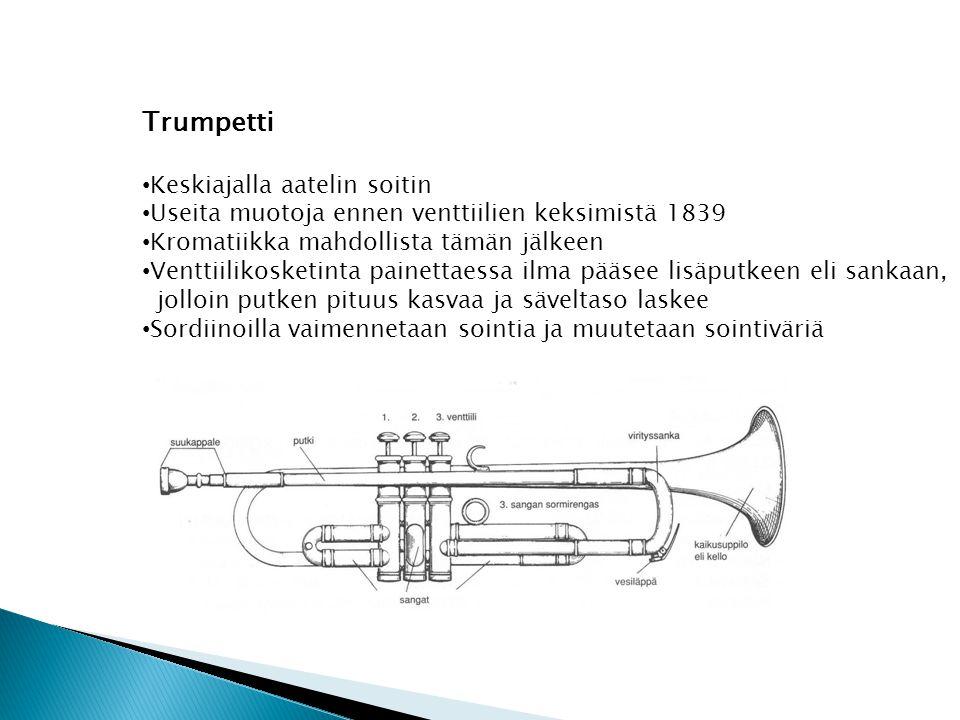 Trumpetti Keskiajalla aatelin soitin