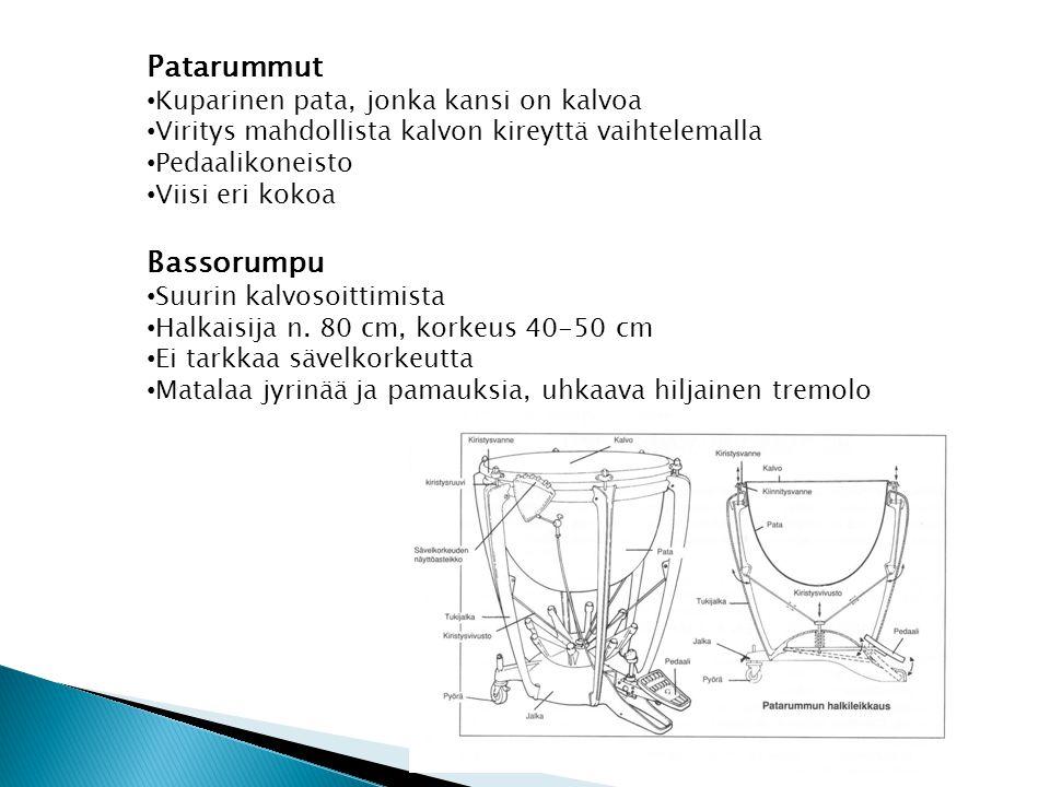 Patarummut Bassorumpu Kuparinen pata, jonka kansi on kalvoa