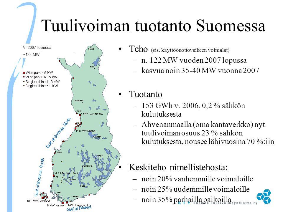 Tuulivoiman tuotanto Suomessa