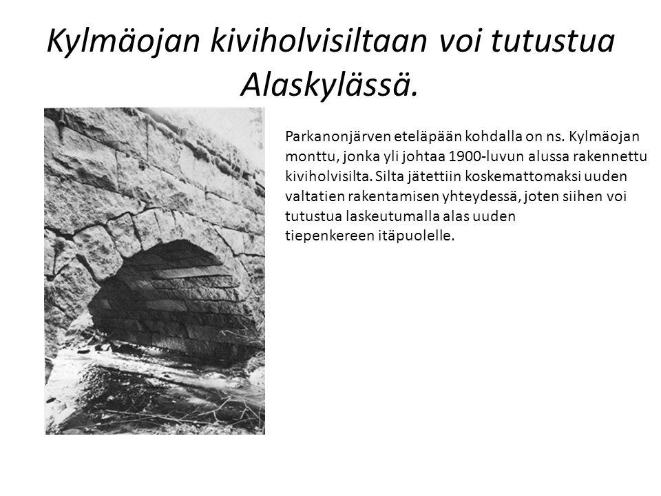 Kylmäojan kiviholvisiltaan voi tutustua Alaskylässä.
