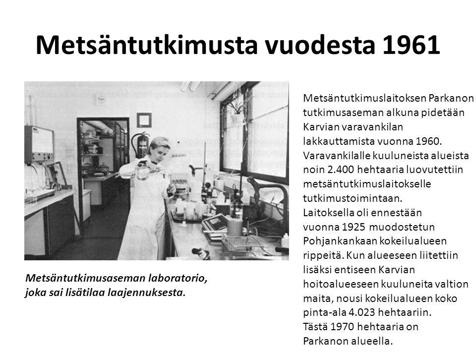 Metsäntutkimusta vuodesta 1961