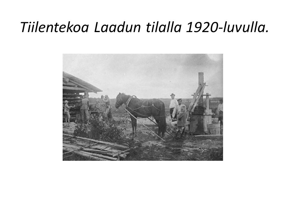 Tiilentekoa Laadun tilalla 1920-luvulla.