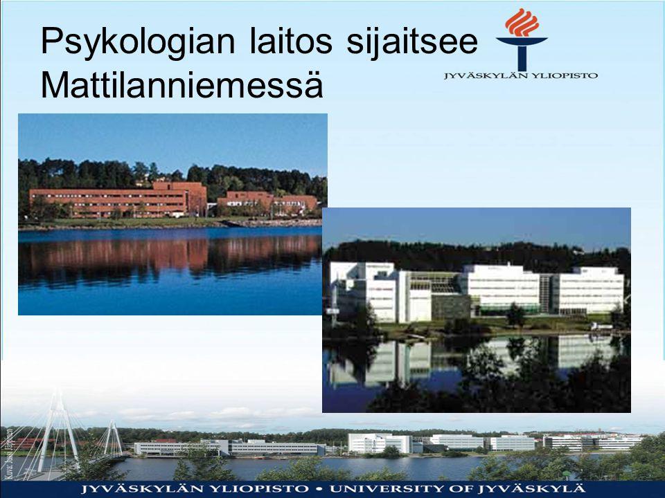 Psykologian laitos sijaitsee Mattilanniemessä
