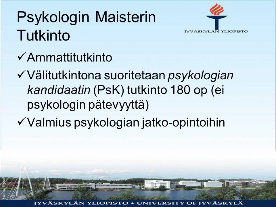 Psykologin Maisterin Tutkinto
