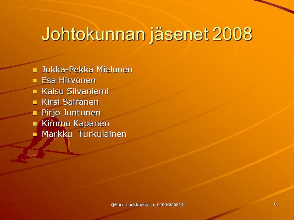 Johtokunnan jäsenet 2008 Jukka-Pekka Mielonen Esa Hirvonen