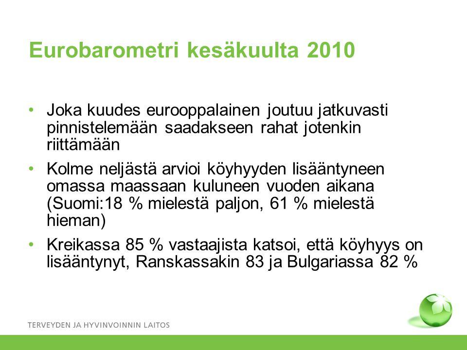 Eurobarometri kesäkuulta 2010