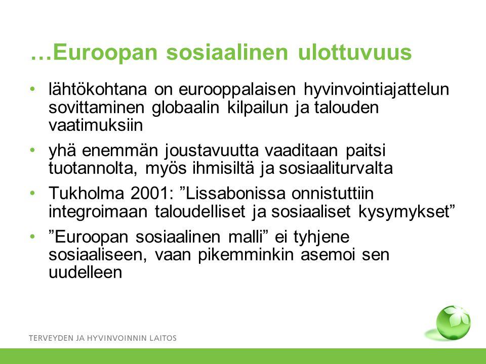 …Euroopan sosiaalinen ulottuvuus