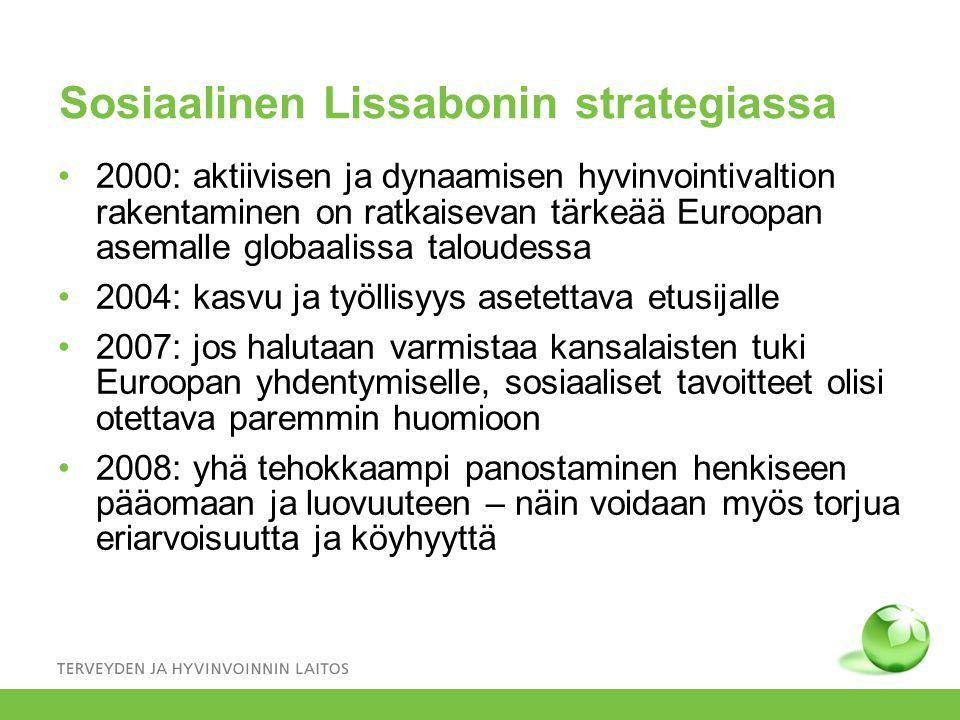Sosiaalinen Lissabonin strategiassa