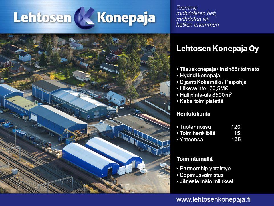 Lehtosen Konepaja Oy www.lehtosenkonepaja.fi