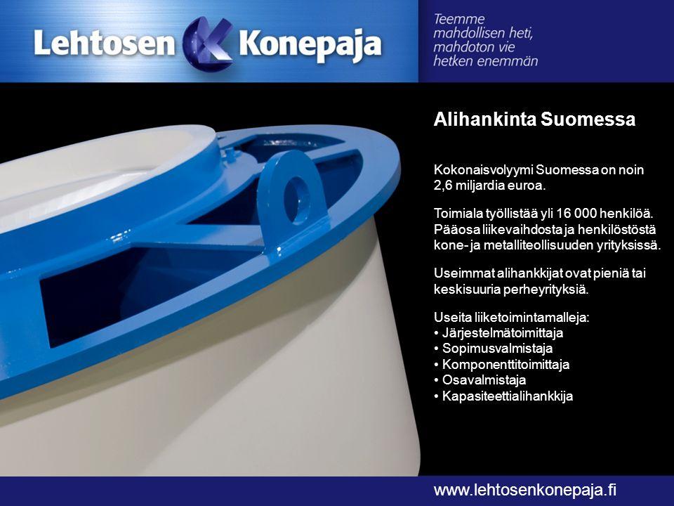 Alihankinta Suomessa www.lehtosenkonepaja.fi