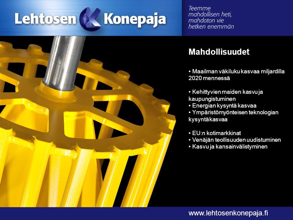 Mahdollisuudet www.lehtosenkonepaja.fi