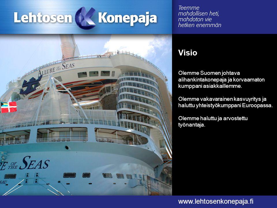 Visio www.lehtosenkonepaja.fi