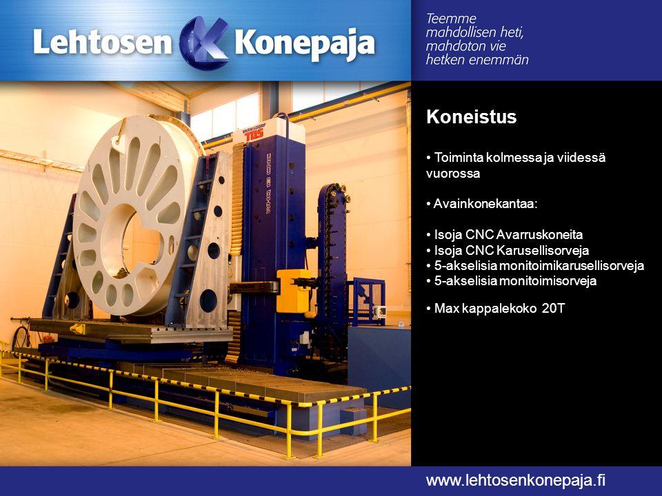 Koneistus www.lehtosenkonepaja.fi