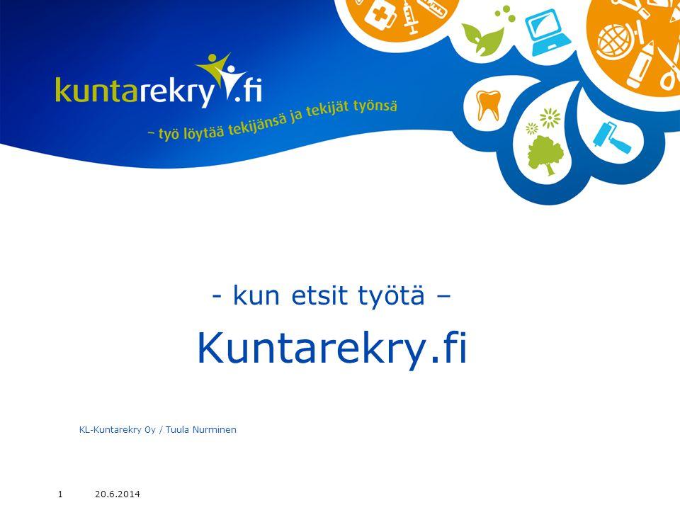 - kun etsit työtä – Kuntarekry.fi