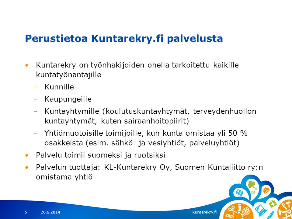 Perustietoa Kuntarekry.fi palvelusta