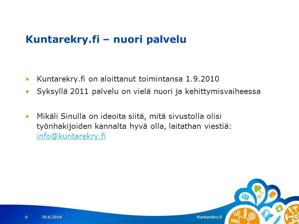 Kuntarekry.fi – nuori palvelu