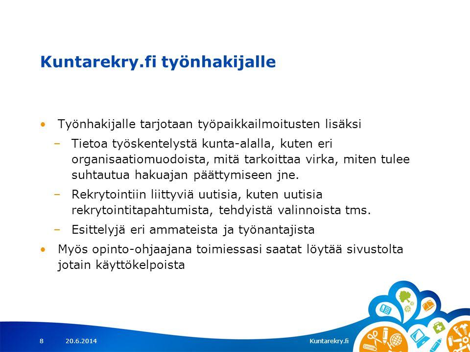 Kuntarekry.fi työnhakijalle