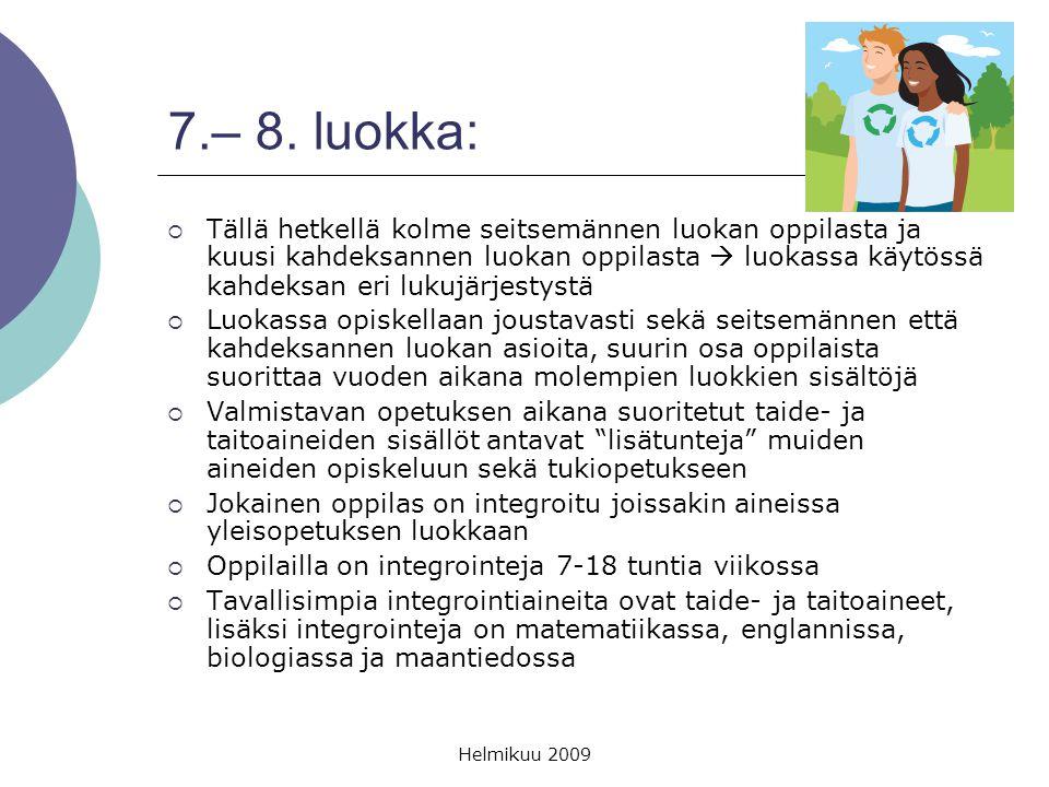 7.– 8. luokka: