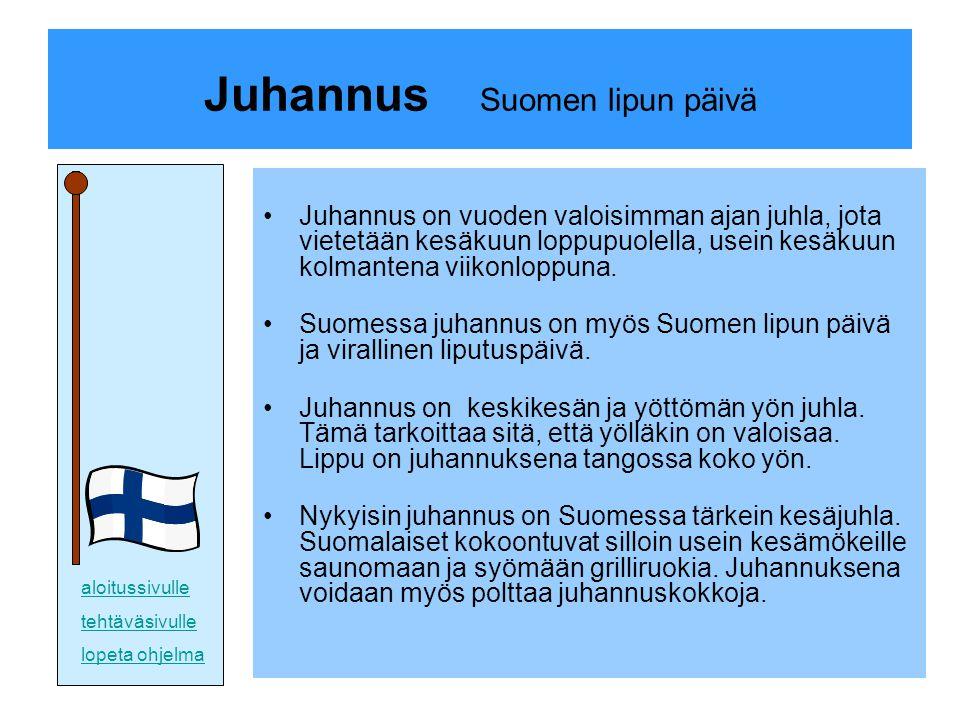 Juhannus Suomen lipun päivä