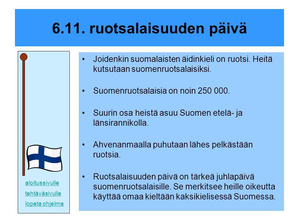 6.11. ruotsalaisuuden päivä