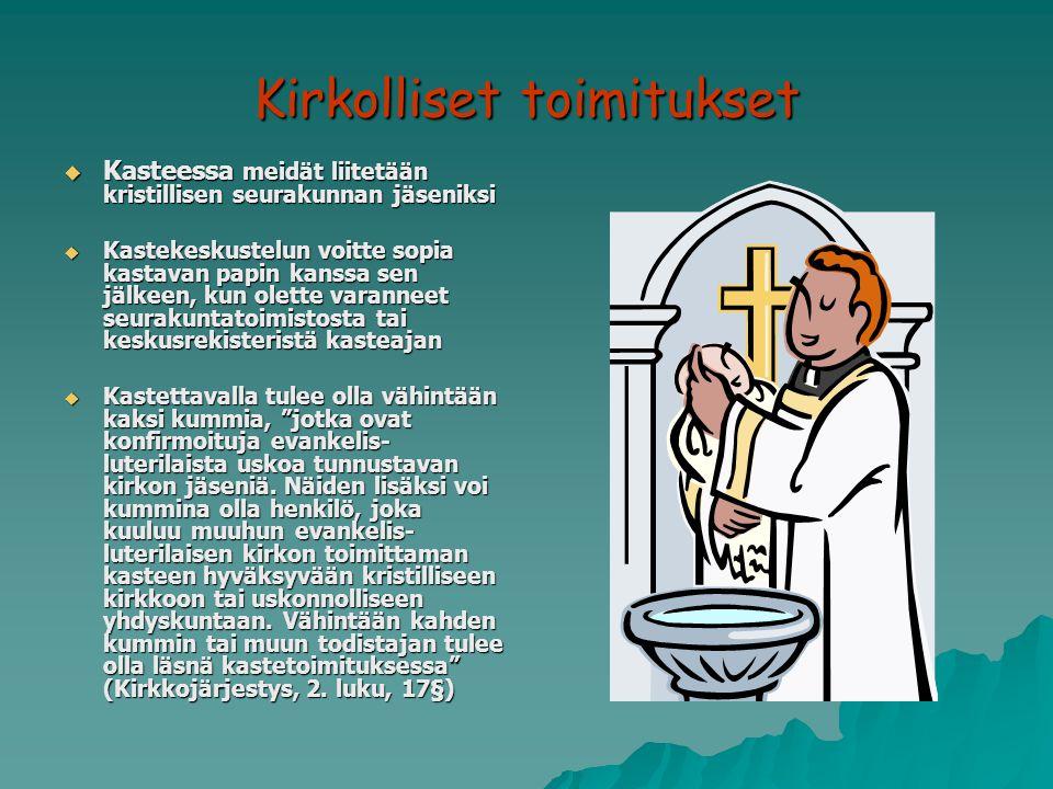 Kirkolliset toimitukset
