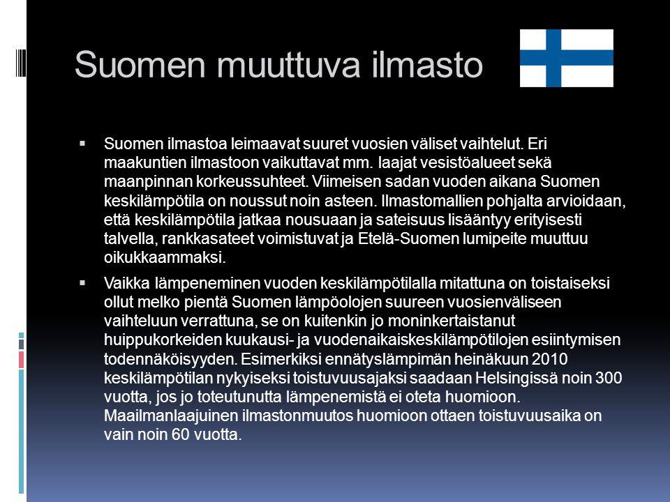 Suomen muuttuva ilmasto
