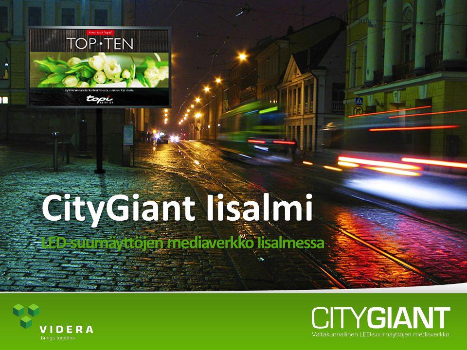 CityGiant Iisalmi LED-suurnäyttöjen mediaverkko Iisalmessa