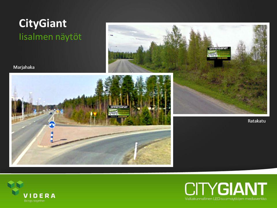 CityGiant Iisalmen näytöt Marjahaka Ratakatu