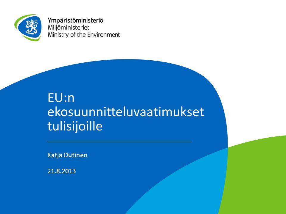 EU:n ekosuunnitteluvaatimukset tulisijoille
