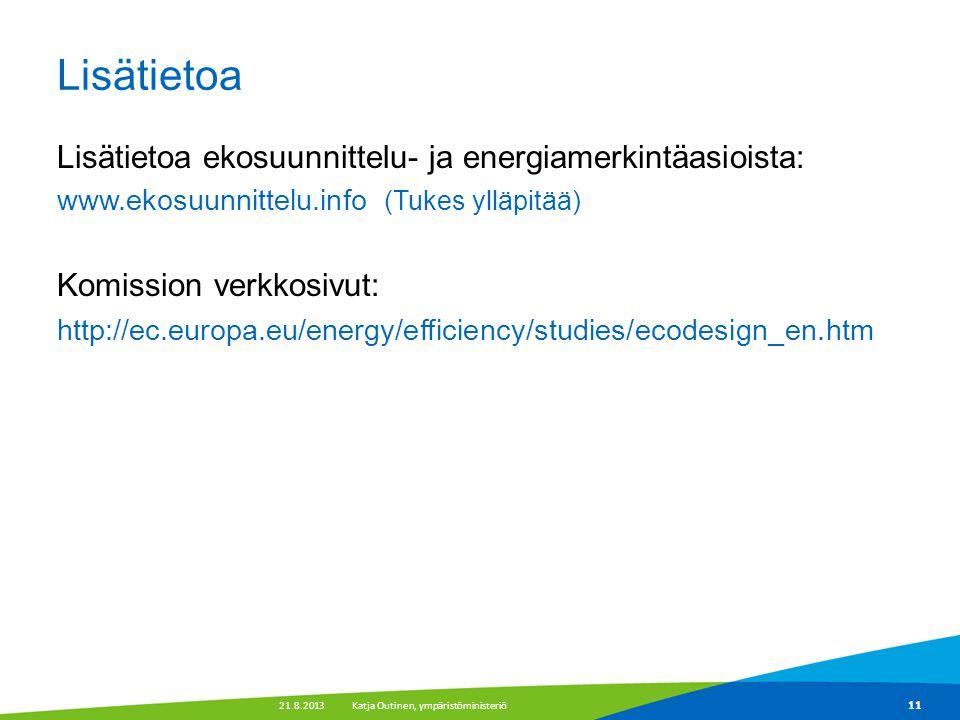 Lisätietoa Lisätietoa ekosuunnittelu- ja energiamerkintäasioista: