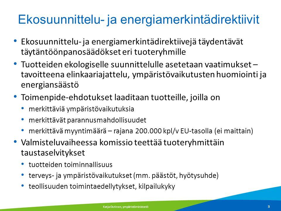 Ekosuunnittelu- ja energiamerkintädirektiivit