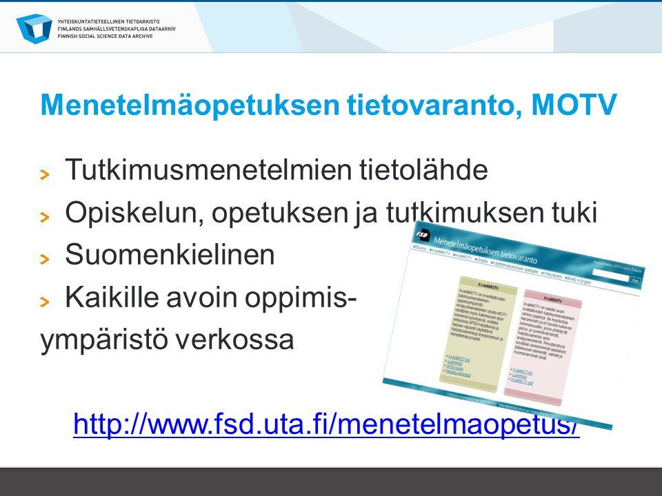 Menetelmäopetuksen tietovaranto, MOTV