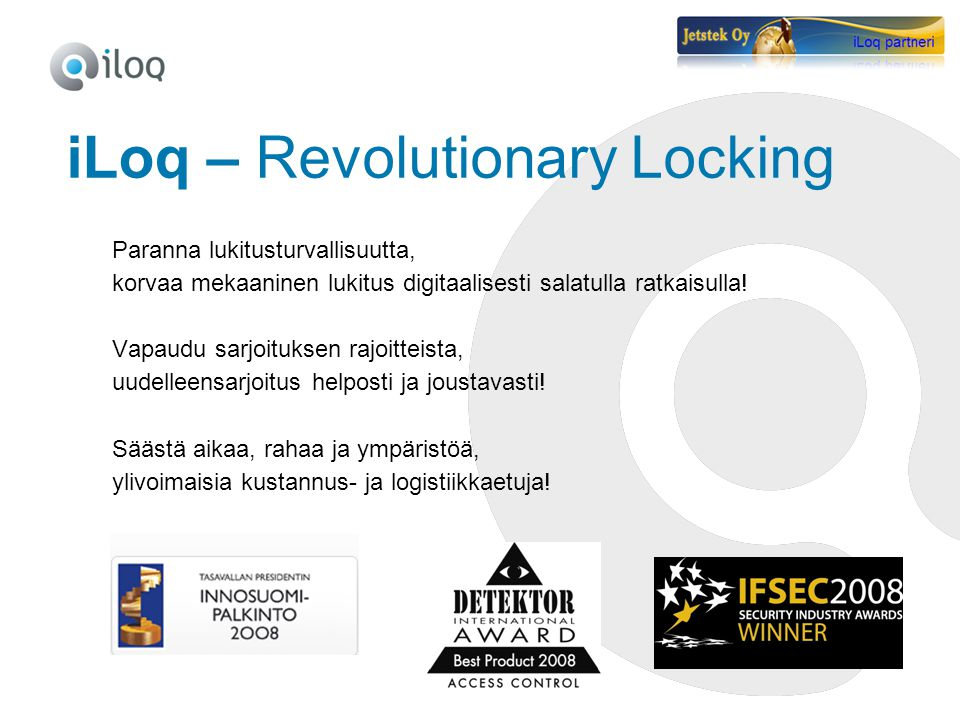 iLoq – Revolutionary Locking