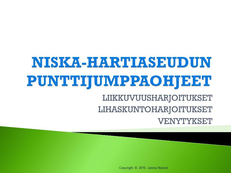 NISKA-HARTIASEUDUN PUNTTIJUMPPAOHJEET
