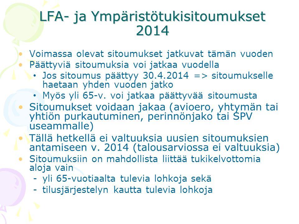 LFA- ja Ympäristötukisitoumukset 2014