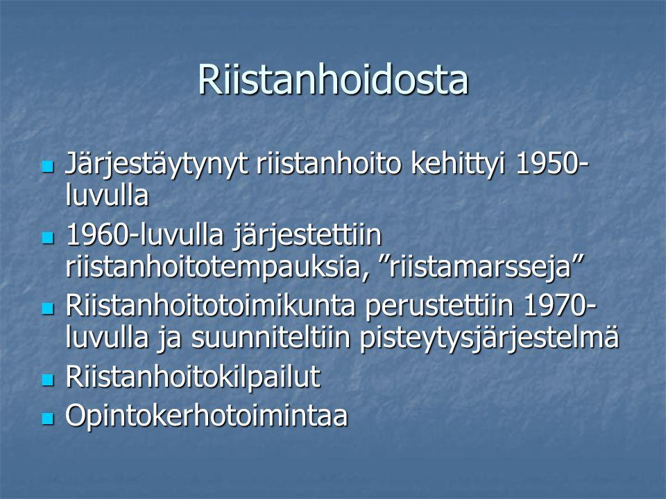 Riistanhoidosta Järjestäytynyt riistanhoito kehittyi 1950-luvulla