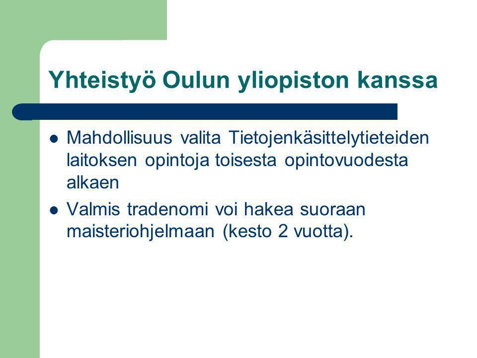 Yhteistyö Oulun yliopiston kanssa