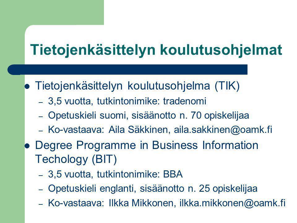 Tietojenkäsittelyn koulutusohjelmat