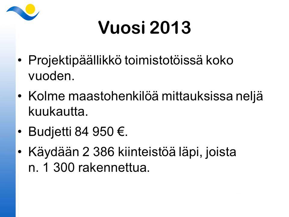 Vuosi 2013 Projektipäällikkö toimistotöissä koko vuoden.