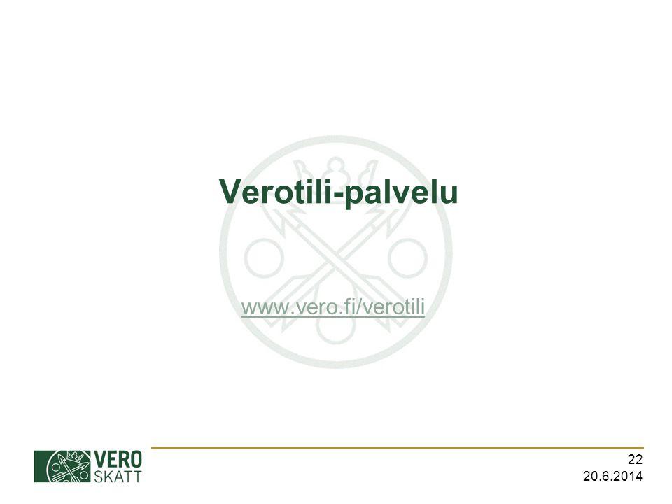 Verotili-palvelu www.vero.fi/verotili 2.4.2017