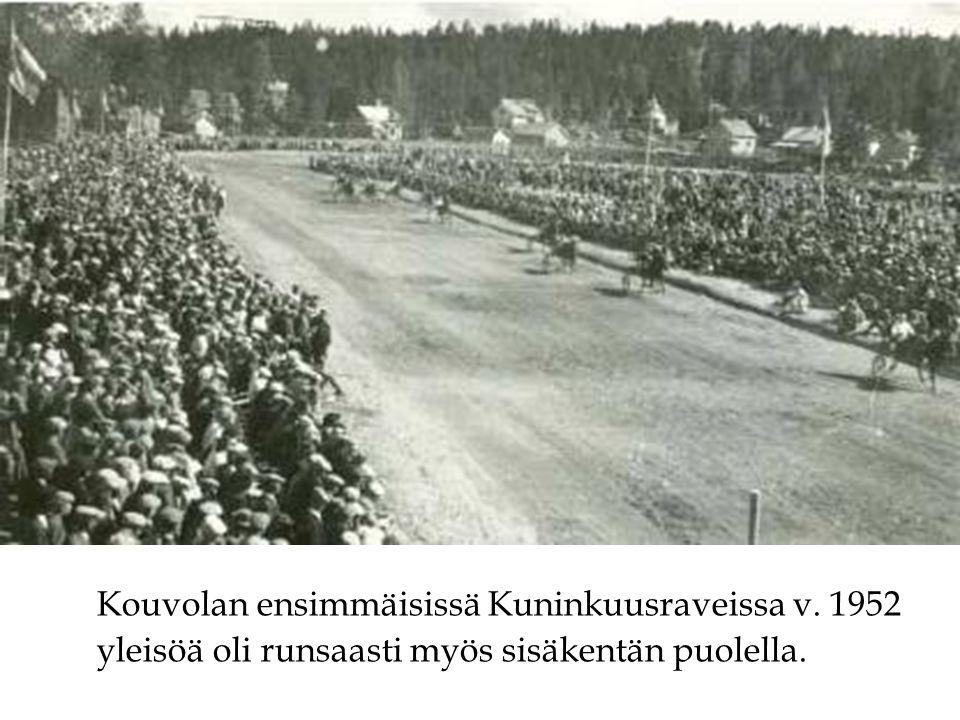 Kouvolan ensimmäisissä Kuninkuusraveissa v. 1952