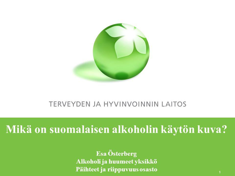 Mikä on suomalaisen alkoholin käytön kuva