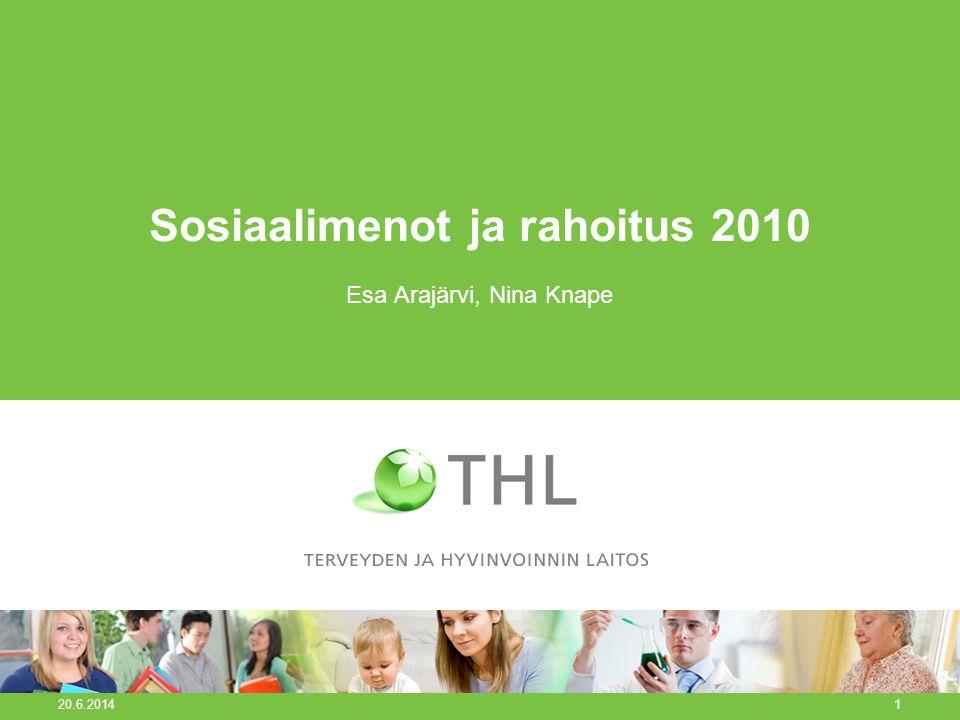 Sosiaalimenot ja rahoitus 2010