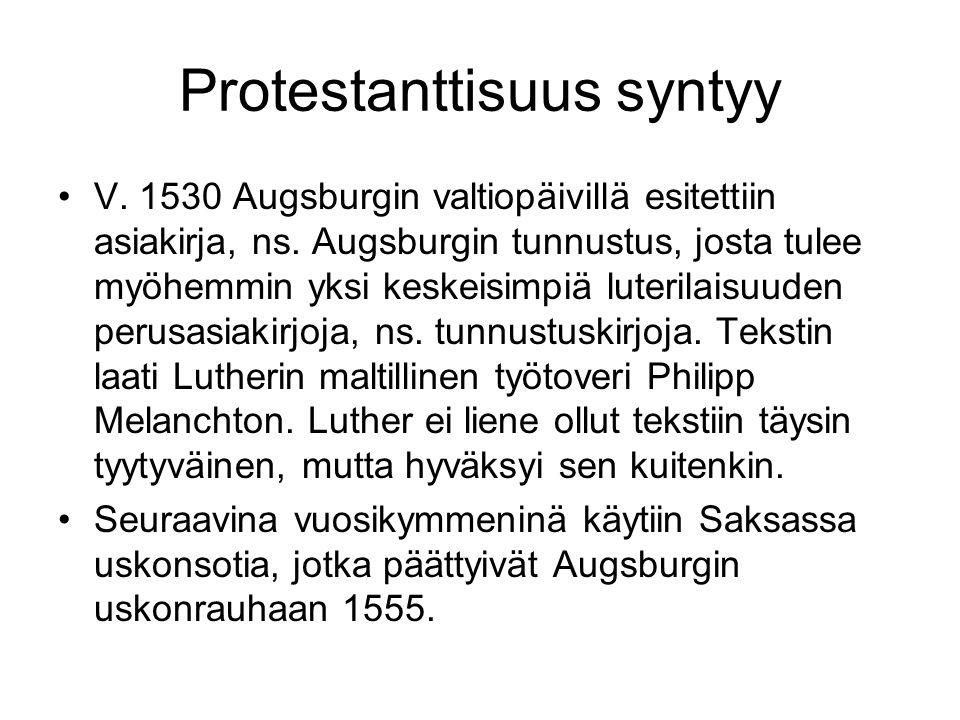 Protestanttisuus syntyy