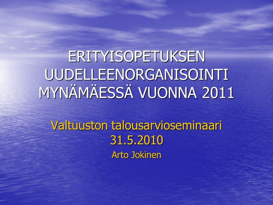ERITYISOPETUKSEN UUDELLEENORGANISOINTI MYNÄMÄESSÄ VUONNA 2011
