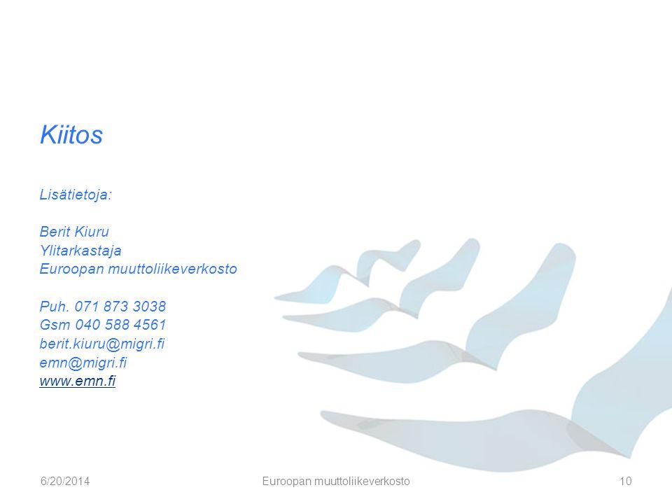 Euroopan muuttoliikeverkosto
